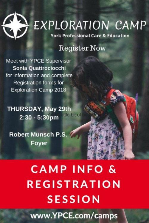 Exploration Camp Info Night
